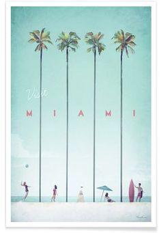 Miami - Henry Rivers - Affiche premium