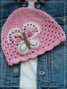 Kouzlo mého domova: Šachovnicová háčkovaná čepička Newborn Crochet Patterns, Crochet Kids Hats, Crochet Beanie Hat, Crochet Baby Clothes, Crochet Girls, Knitted Hats, Crochet Stitches, Knit Crochet, Crochet Projects