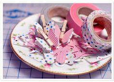 Butterfly Garland |Mariposas con washi tape