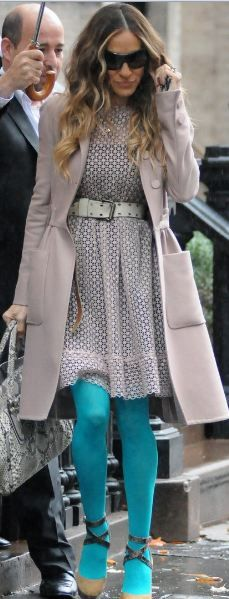 Who made Sarah Jessica Parker's pumps and dress that she wore in New York?