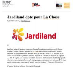 Jardiland opte pour la chose ! A lire dans CBNEWS