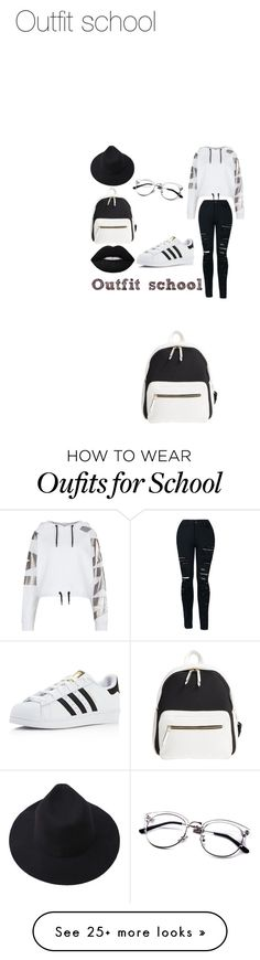 """""""School or Casual"""" by leidychung on Polyvore featuring Poverty Flats, Topshop and adidas"""