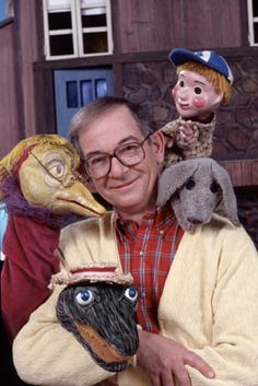 Mr. Dressup, with Casey, Mrs. Bird, and Alligator Al!  Loved this show.  Channel 9 (CBC)