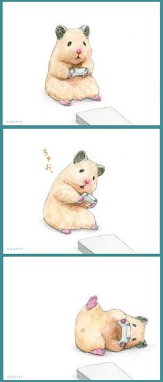 むチュー Cute Pictures To Draw, Funny Animal Pictures, Cute Animal Drawings, Cute Drawings, Japanese Hamster, Hamster Cartoon, Creature Drawings, Cute Hamsters, Cute Games