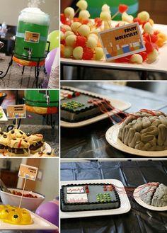 Mad scientist party: brain cake, food ideas, etc