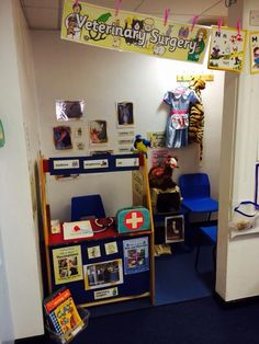 This collection of vet's role play resources for early years children helps you create a vet's role play area in the classroom or at home. Dramatic Play Themes, Dramatic Play Centers, Teaching Displays, Classroom Displays, Classroom Ideas, Nursery Layout, People Who Help Us, Play Corner, Role Play Areas