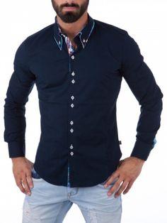 Trendy skjorte med stilig design og detaljer. Skjorten passer både til fest og hverdags. Skjorten er laget av 97% bomull og 3 % elastan. Normal i størrelsen. Modellen på bildet er 183cm 86kg og bruker strl. L.Merke: CarismaModell: ClubstarFarge: NavyMateriale: 97% bomull og 2% elastanStørrelser: S, M, L, XL og XXL Finnes i fargene svart, marine, rød, hvit og lyseblå.