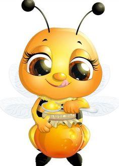 lovely cartoon bee
