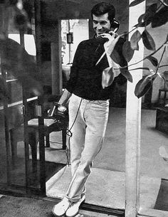 Anthony Perkins on the phone
