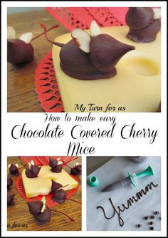 How to Make Easy Chocolate Covered Cherry Mice for Valentines Day or Christmas