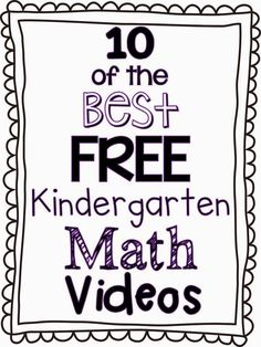 10 of the Best FREE Kindergarten Math Videos