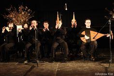 The Gagaku music ensemble accompanying Kenji Williams