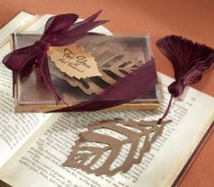 Ok this has tree leaves and is a book mark, perfect party favor for you!