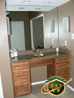 custom built vanity ambient lighting creates