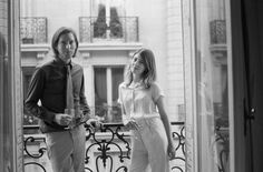 Sofia Coppola and Wes Anderson at the Four Seasons George V in Paris for @VANITY FAIR