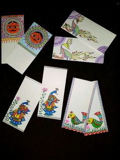 Register now for the EPIC INDIA trip on www.travart.org Fancy Envelopes, Handmade Envelopes, Madhubani Art, Madhubani Painting, Worli Painting, Fabric Painting, Kalamkari Painting, Indian Folk Art, Envelope Art