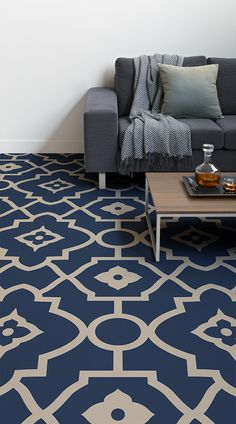 Morocco Morocco Amy Moonbeam Save Images Amy Moonbeam Morocco is a Moroccan-influenced Vinyl Flooring design that features a beautifully ornate patter… – Renovation Luxury Vinyl Flooring, Luxury Vinyl Plank, Floor Design, House Design, Classy Living Room, Traditional Tile, Floor Seating, Moroccan Design, Interior Decorating