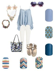 Blues by renee-eason on Polyvore featuring beauty, Torrid, Mixit, Anne Klein, Sans Souci, Acne Studios and Lilly Pulitzer