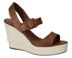 Sergio Rossi wedges sandals in tan Leather - Italian Boutique €254