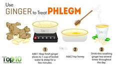 ginger remedy to get rid of phlegm