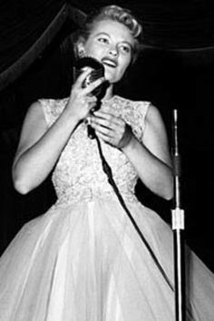 Patti Page- a low singing voice when Soprano was the popular thing... She made a name for herself!!