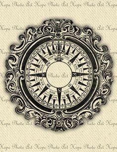 Nautical Vintage Compass 8.5x11 Fabric Image by HopePhotoArt, $1.25
