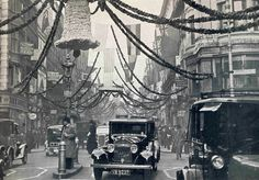 A decorated Bond Street for the wedding of the Duke of Kent and the Princess Marina of Greece