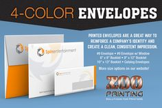 Envelopes are a great way to reinforce a company's identity. Don't forget to remind your clients that you can provide this valuable print service that help builds a company brand.  Zoo Printing Wholesale Printing. Sign Up Free Today! http://zooprint.us/6ISkL #Printing #GraphicDesigners #WholesalePrinting #ZooPrinting