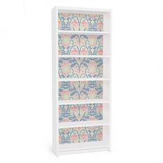 #ikea #hack #billy Furniture Decals https://www.yourdecoshop.com/en/furniture-decal-for-ikea-billy-bookshelf-linen-damask-ornament/a-90854/