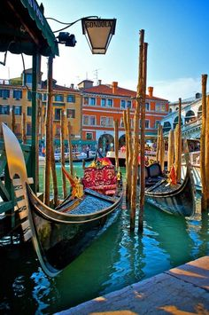 Gondola Stand, Venice, Italy. I can't wait for a gondola ride.