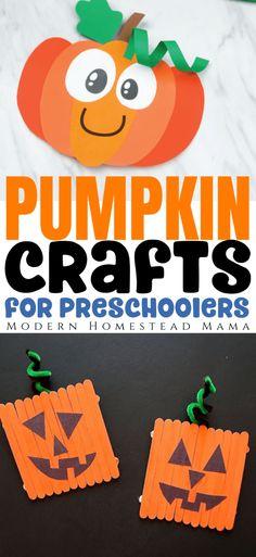 Pumpkin Crafts for Preschoolers | Modern Homestead Mama Halloween Activities For Kids, Preschool Projects, Classroom Crafts, Halloween Crafts, Toddler Art, Toddler Preschool, Preschool Activities, Egg Crafts, Pumpkin Crafts
