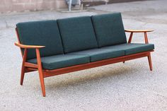 Hans Wegner sofa with original fabric by Antiques & Modern, via Flickr