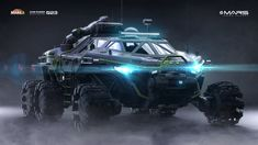 A winning entry in vehicle design category in HP Mars Home Planet Challenge! Alien Concept Art, Weapon Concept Art, Concept Cars, Armor Concept, Military Gear, Military Vehicles, Sci Fi Models, Spaceship Design, Expedition Vehicle