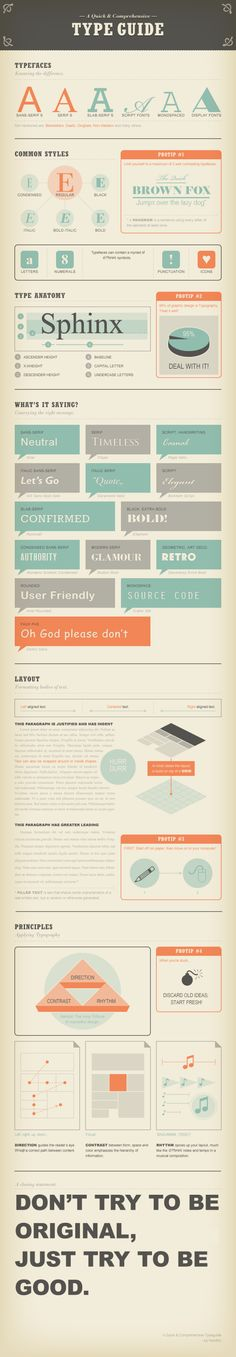 logo    a new infographic every day        Home      About      Contact      Sitemap      Categories »    A Quick and Comprehensive Type Guide [infographic]