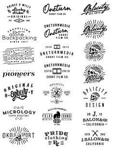 Logos 13 by Jorgen Grotdal, via Behance 2 Logo, Typography Logo, Typography Design, Branding Design, Inspiration Logo Design, Typography Inspiration, Typographie Fonts, Logo Simple, Badge Design