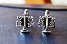 Lawyer Gift  Scales of Justice Cuff Links  by CleopatraNYC on Etsy, $47.00