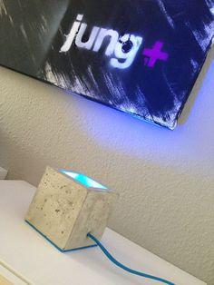 light+ Betonlampe   Jung und Grau - Betonmöbel und Wohnaccessoires aus Beton