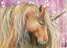 Serene - Unicorn ACEO by BlackAngel-Diana.deviantart.com on @DeviantArt