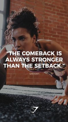 The Comeback Is Always Stronger Than The Setback Unknown Gymshark Nbsp Quotes Nbsp Motivational Insp – Fitness Fitness Humor, Fitness Workouts, Sport Fitness, Fitness Motivation Quotes, Health Motivation, Fitness Goals, Health Fitness, Yoga Workouts, Fitness Wear