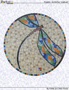 Mosaico - Libélula by Artcolor mosaicos - Beto Romio & Fabbio Joe, via Flickr