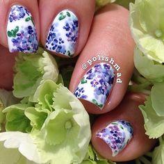Hydrangea Nails, polishmad