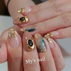 - Nails- 夏/オールシーズン/ハンド/グラデーション/ワンカラー - mysn. Japanese Nail Design, Japanese Nail Art, Nail Art Designs Videos, Red Nail Designs, Minimalist Nails, Nail Swag, Fabulous Nails, Gorgeous Nails, Cute Nails