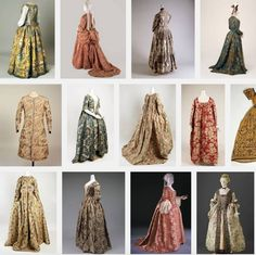 18th century floral dresses