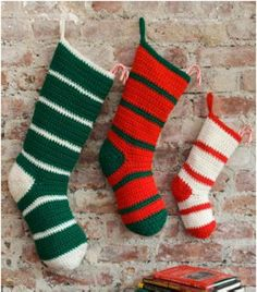 Learn how to make Christmas stockings that you'll be proud to hang on your fireplace with any of our free crochet Christmas stocking patterns. Don't worry if you're not an expert at crochet, we have plenty of Christmas crochet patterns for you. Crochet Christmas Stocking Pattern, Crochet Stocking, Crochet Santa, Holiday Crochet, All Free Crochet, Christmas Knitting, Crochet Baby, Easy Crochet, Beginner Crochet
