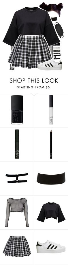 """NOT TODAY / I N S P I R E D ♡"" by girimadboy ❤ liked on Polyvore featuring NARS Cosmetics, Charlotte Russe and adidas"