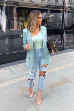 Business Casual Outfits, Cute Casual Outfits, Casual Chic, Stylish Outfits, Pink Blazer Outfits, Casual Wear, Blazer Fashion, Fashion Outfits, Fashion Trends