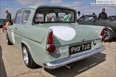 #Ford Anglia 105e PHX721E Retro Cars, Vintage Cars, Antique Cars, Ford Motor Company, Classic Hot Rod, Classic Cars, Ford Anglia, Old Fords, Automotive Art