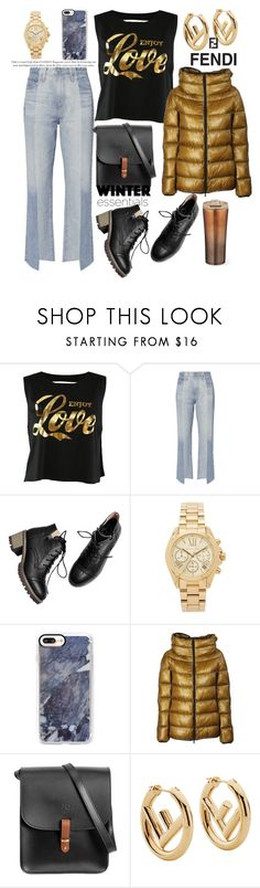"""bad attitude.."" by csfshawn ❤ liked on Polyvore featuring AG Adriano Goldschmied, Michael Kors, Casetify, Herno, N'Damus and Fendi"