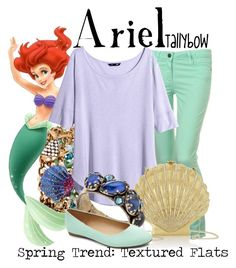"""""""Ariel"""" by tallybow ❤ liked on Polyvore featuring Paige Denim, Betsey Johnson, H&M, Charlotte Olympia and Konplott"""