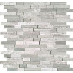 Elida Ceramica Avalanche Mixed Material Glass and Metal Mosaic